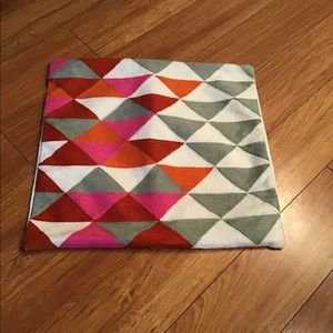 WEST ELM MULTI COLOURED TRIANGLE PILLOW CASES